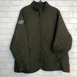 Lands End Quilted Field Jacket Military Patch 2X
